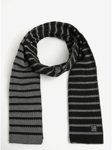 Sivo-čierny pruhovaný šál Blend