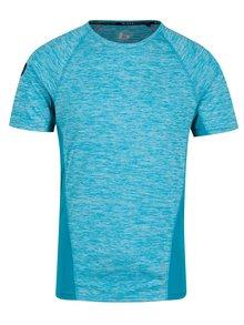 Tyrkysové žíhané muscle fit tričko s kapsou na zádech Blend