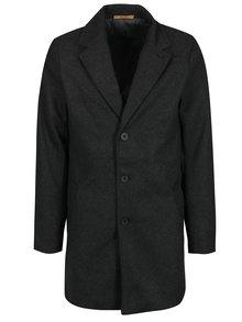 Tmavě šedý pánský kabát s příměsí vlny Casual Friday by Blend