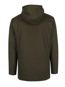 Tmavě zelený pánský kabát s příměsí vlny Casual Friday by Blend