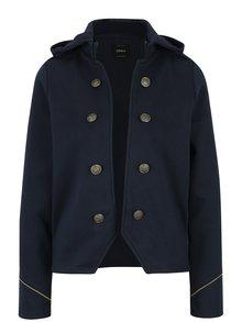 Tmavomodré sako s odopínateľnou kapucňou ONLY Luna