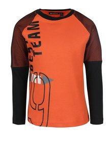 Čierno-oranžové chlapčenské tričko s potlačou Mix´n Match