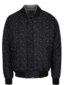 Jacheta bomber gri pentru bărbați cu aplicații NASA ALPHA INDUSTRIES