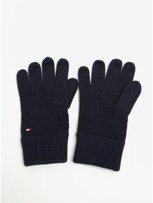 Tmavomodré pánske rukavice Tommy Hilfiger