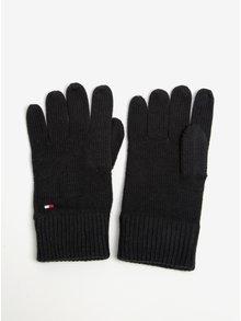 Černé pánské rukavice Tommy Hilfiger