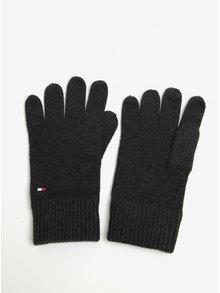 Tmavě šedé pánské rukavice Tommy Hilfiger