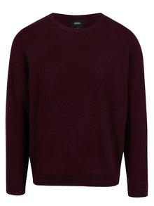 Vínový sveter Burton Menswear London