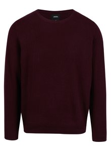 Pulover bordo din bumbac pentru barbati - Burton Menswear London