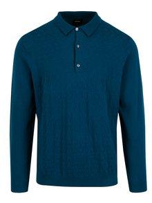 Petrolejový sveter s gombíkmi Burton Menswear London