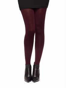 Vínové vzorované pančuchové nohavice Oroblu Gabriela