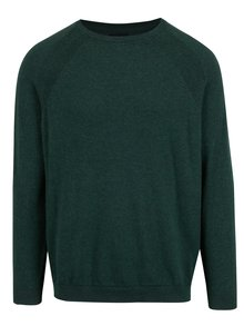 Pulover barbatesc subtire verde inchis - Burton Menswear London