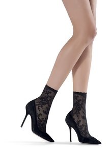 Černé vzorované ponožky Oroblu Marisol