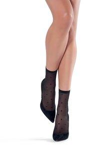 Čierne vzorované ponožky Oroblu Cloe
