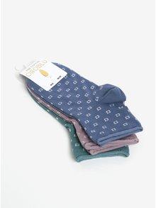 Sada tří párů ponožek v modré, růžové a zelené barvě Oroblu Lucky 3