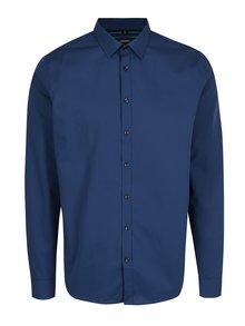 Tmavomodrá formálna tailored fit košeľa Seidensticker