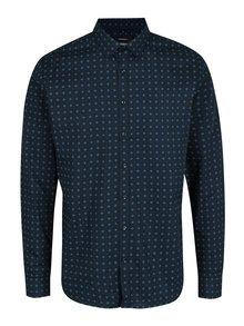 Tmavomodrá vzorovaná x-slim fit košeľa Seidensticker