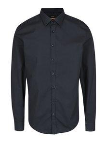 Tmavě modrá vzorovaná slim fit košile Seidensticker