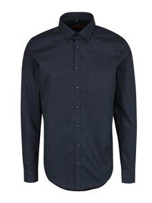 Tmavě modrá slim fit košile s pravidelným vzorem Seidensticker