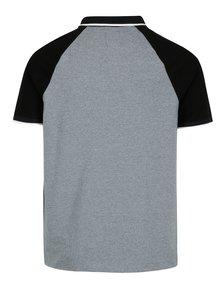 Čierno-sivá melírovaná polokošeľa Burton Menswear London