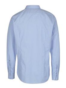 Světle modrá formální tailored fit košile s jemným vzorem Seidensticker