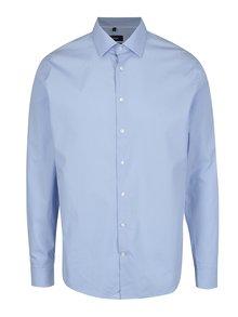 Svetlomodrá tailored fit košeľa s jemným vzorom Seidensticker