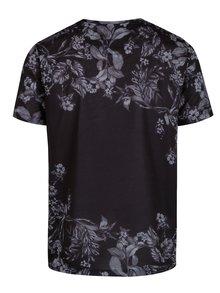 Sivo-čierne kvetované tričko Burton Menswear London