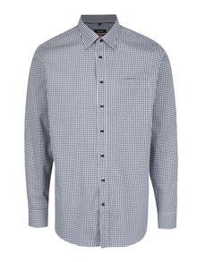 Modro-biela kockovaná modern fit košeľa Seidensticker