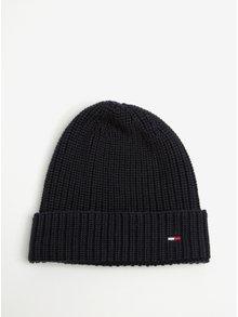 Tmavomodrá pánska čiapka s pleteným vzorom Tommy Hilfiger