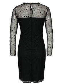 Čierne šaty s priesvitným sedlom a rukávmi Dorothy Perkins