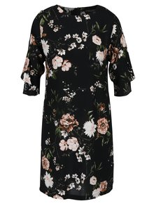 Rochie neagra cu print floral Dorothy Perkins