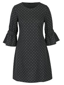 Tmavě šedé puntíkované šaty Dorothy Perkins