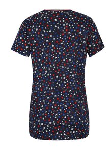 Tmavomodré dámske tričko s motívom hviezd Tommy Hilfiger