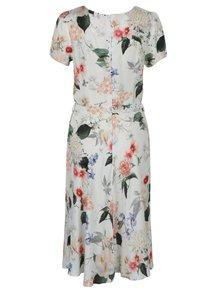 Krémové kvetované midi šaty Billie & Blossom