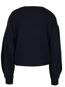 Tmavomodrý sveter Miss Selfridge