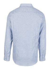 Bielo-modrá vzorovaná formálna slim fit košeľa Burton Menswear London