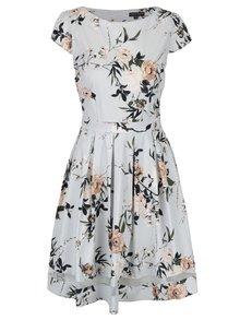 Rochie alb - cenusiu cu print floral Dorothy Perkins
