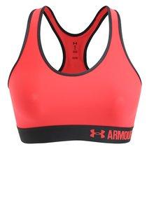 Neonově růžová sportovní podprsenka Under Armour Mid Solid