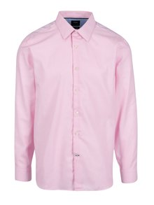 Ružová formálna tailored fit košeľa s jemným vzorom Burton Menswear London