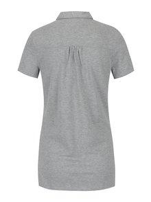 Světle šedé dámské polo tričko s jemným třpytivým efektem Tommy Hilfiger Tamar