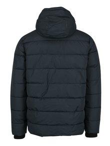 Tmavě modrá prošívaná bunda s kapucí Burton Menswear London