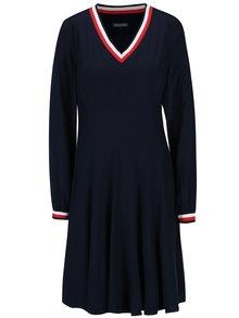 Tmavě modré šaty s dlouhým rukávem Tommy Hilfiger