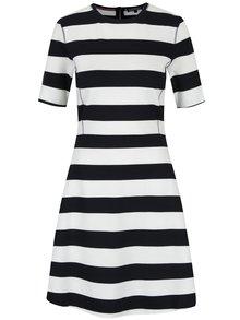 Černo-krémové pruhované šaty Tommy Hilfiger