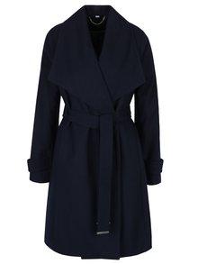Tmavě modrý kabát se zavazováním v pase Dorothy Perkins