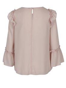 Bluza roz cu volane la umeri si maneci Dorothy Perkins