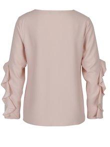 Bluza roz cu maneci cu volane Dorothy Perkins