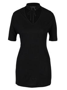 Černé tričko s chokerem Miss Selfridge