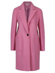 Růžový kabát s příměsí vlny Miss Selfridge