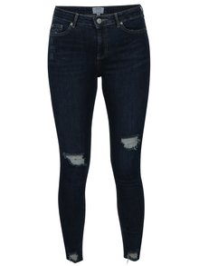 Blugi super skinny albastri cu aspect uzat - Miss Selfridge
