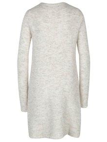 Rochie pulover crem melanj din amestec de lana alpaca VERO MODA Ginger