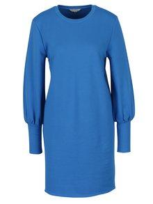 Modré mikinové šaty Miss Selfridge